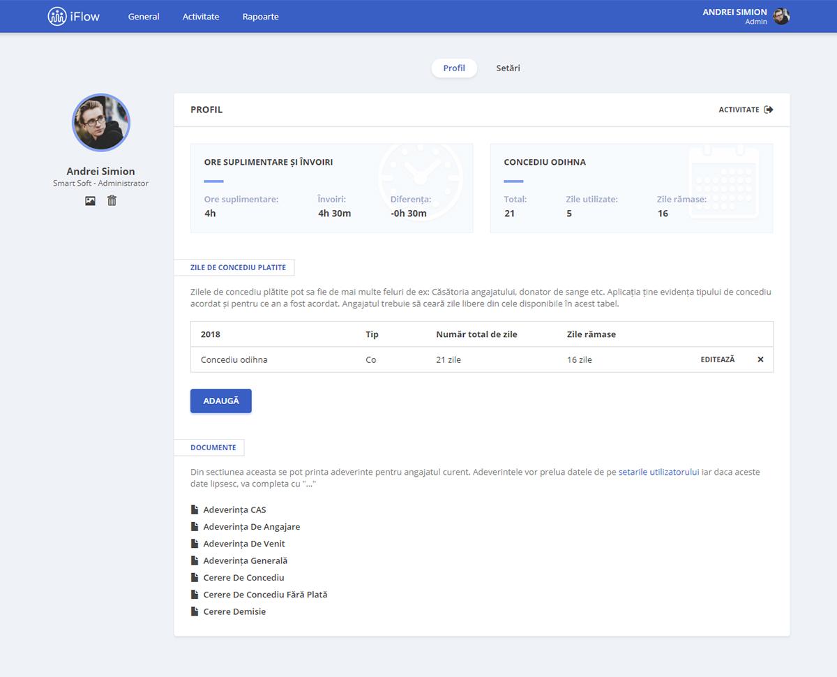 Profilul de Utilizator iFlow